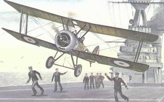 Первый палубный самолет на авианосце
