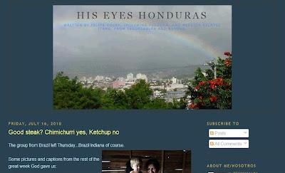 His Eyes Honduras blog