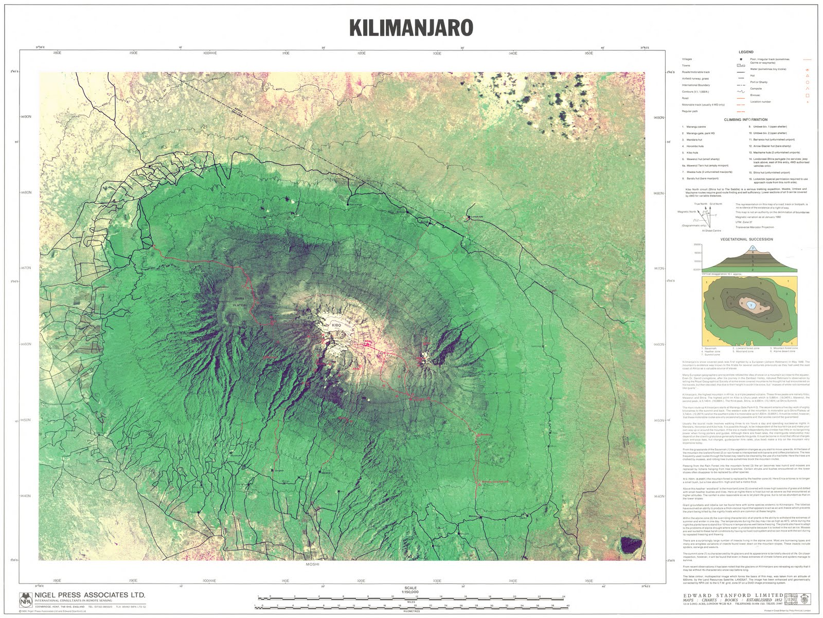 GIS Research and Map Collection: Mount Kilimanjaro Maps Available ...