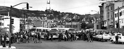 White Night Riot, march in progress at 18th and Castro, May 21, 1979, roughly one hour before the riot started.