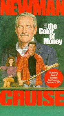 Paul Newman & Tom Cruise. The Color of Money, promo cover with Academy Award sticker. 1987.