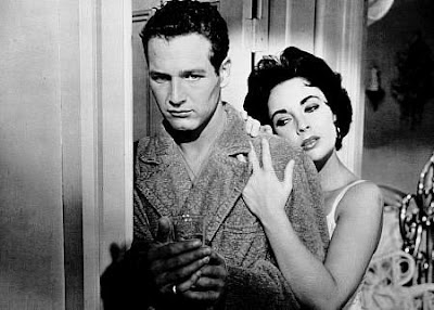Paul Newman & Elizabeth Taylor. Cat On A Hot Tin Roof. 1958. photo MGM.