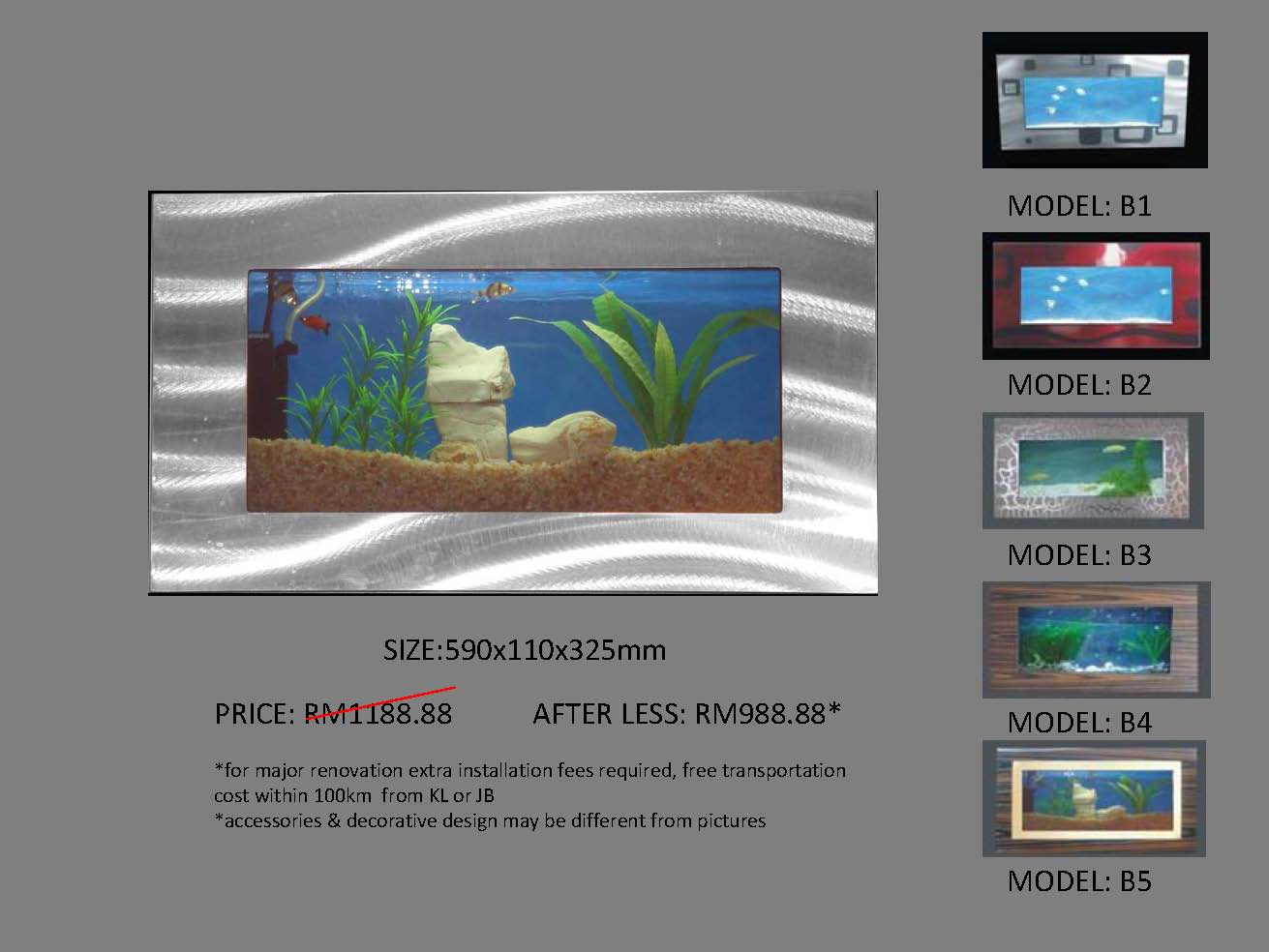 Wall Aquarium At Home Our Product