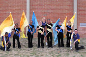 Color Guard Squad with Coach Donna Wilson