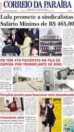 """Texto de Levi B. Santos sobre a """"Crise e os Carros"""" no caderno A do Correio da Paraiba (21/01/2009)"""