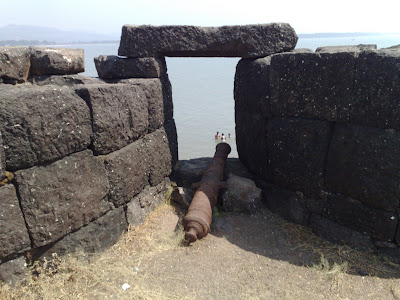 Two Maratha Cannons on the Alibag Fort.