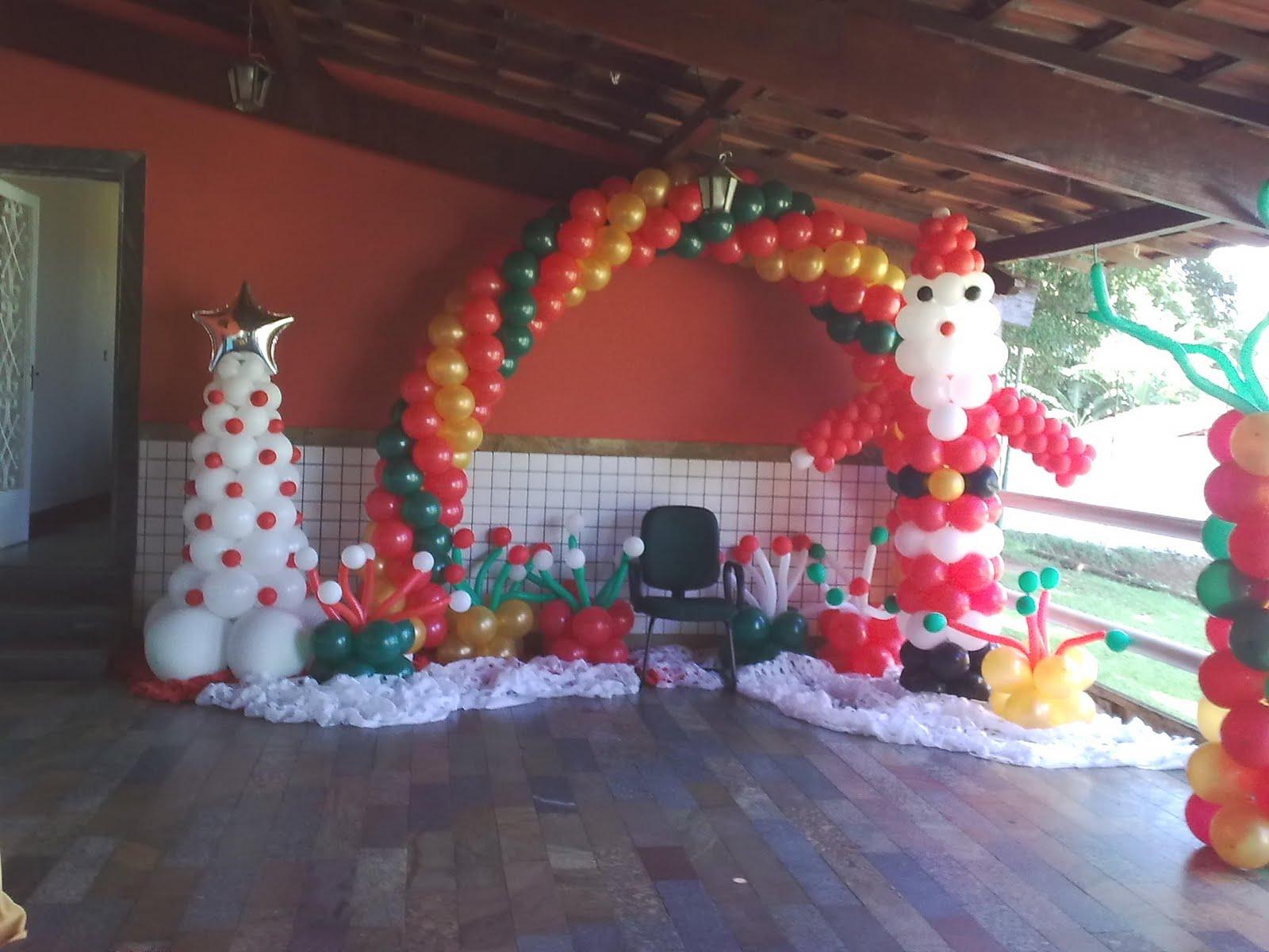 decoracao festa natal:Decoração com Balões Festas Personalizadas: Natal