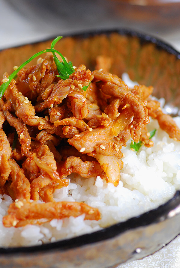Daeji Bulgogi Is Another Popular Korean Meat Dish Similar To Bulgogi However Instead Of Using Beef Thin Sliced Pork Loin Is Marinated In A Specially