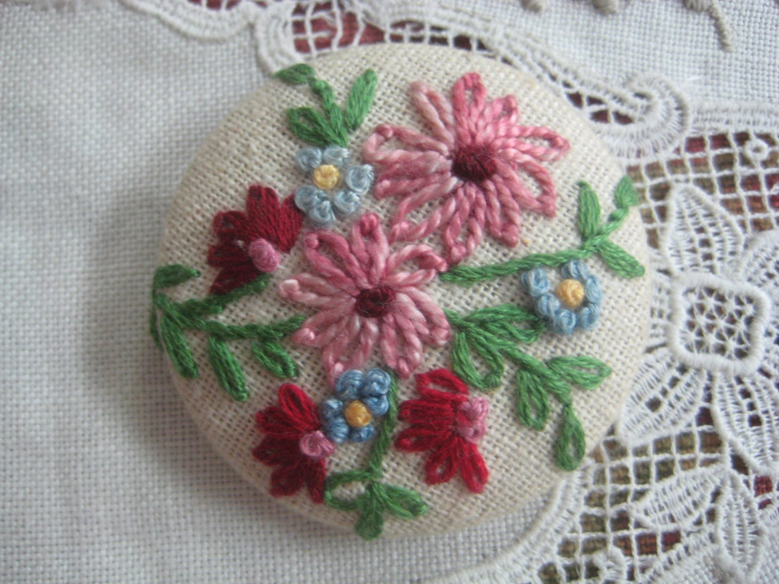 Bird Nest On The Ground French Knot Buttons