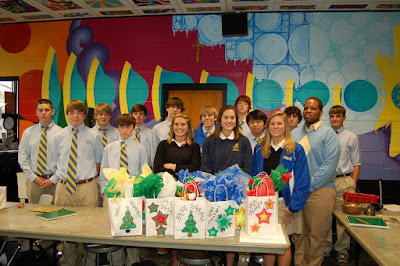 Montgomery Catholic and Compass Bank Spread Christmas Cheer 1
