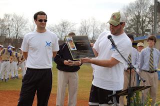 Montgomery Catholic Dedicates Baseball Field in memory of Brannon Cochran '99 2