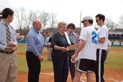 Montgomery Catholic Dedicates Baseball Field in memory of Brannon Cochran '99 1