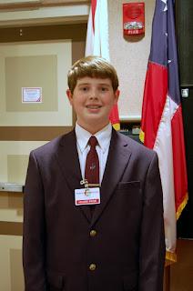 Seventh Grader Zack Hulcher Serves as House Page 1