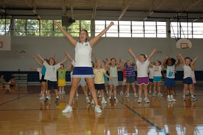 Record Number of Girls Attend Montgomery Catholic's Cheer Camp 1