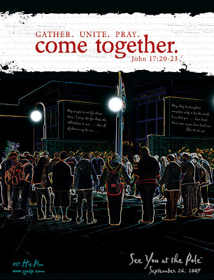 """Montgomery Catholic Students """"See You at the Pole"""" on Wednesday, September 26th 1"""