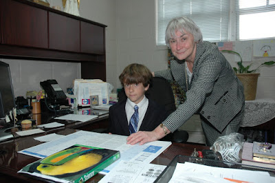 Miles Serves as Elementary Principal for a Day 1