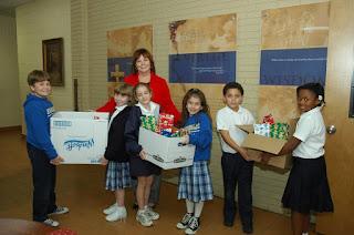 "Montgomery Catholic Third Graders Take Part in ""Operation Santa Claus"" 1"