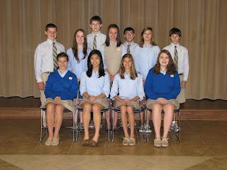 Montgomery Catholic Taps 11 New Members into National Junior Honor Society 1