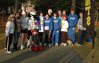 Montgomery Catholic Team Third Highest Fundraiser at Jingle Bell Run 1