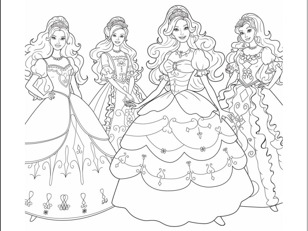 FIŞE DE COLORAT: Planşe de desenat pentru fetiţe cu Barbie şi cei ...