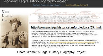 Women&#39;s Legal History Biography Project