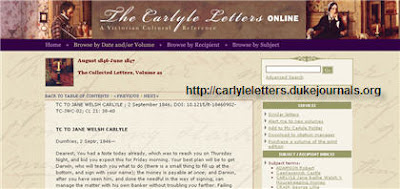 Duke University Press Carlyle Letters Online