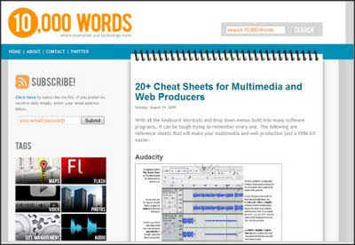10,000 Words - Multimedia and Journalism Resouces