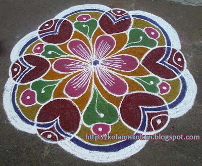 Circle type Rangoli Kolams