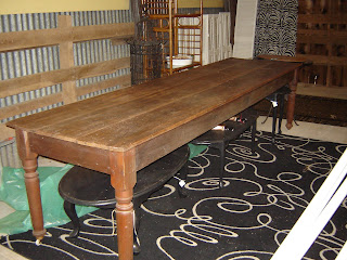 We Have An Incredible 10Ft Harvest Table For Sale. It Is Currently In The  Barn And Is For Sale. It Has 3 Large Planks Of Wood Across The Top, ...