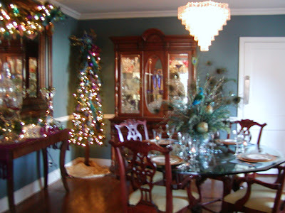 Dreams and decor peacock room on christmas home tour for Peacock dining room ideas