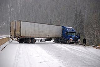 jack-knifed truck