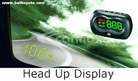 aksesoris camry: Head Up Display