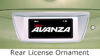 toyota avanza: rear, license, ornament