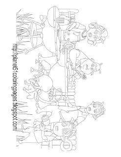 Planet 51 coloring pages for kids
