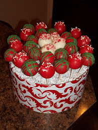 Christmas party cake pops