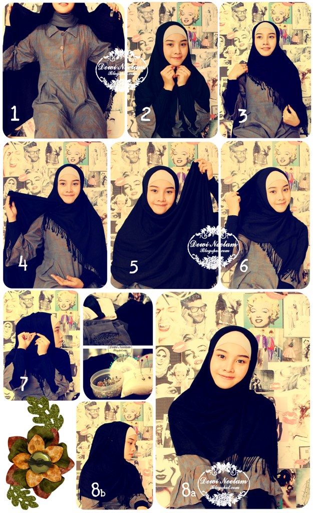 Hijab Tutorial #3 (Daily Wear) : easy n simple