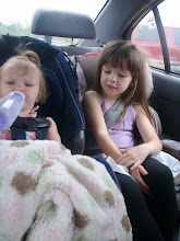 Gracie and Janie in the car