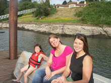 Angie, Jen and Gracie down at the water