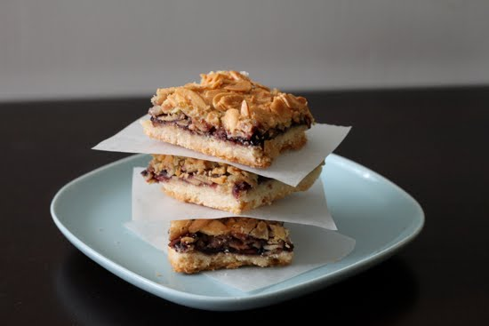 cherry almond bars
