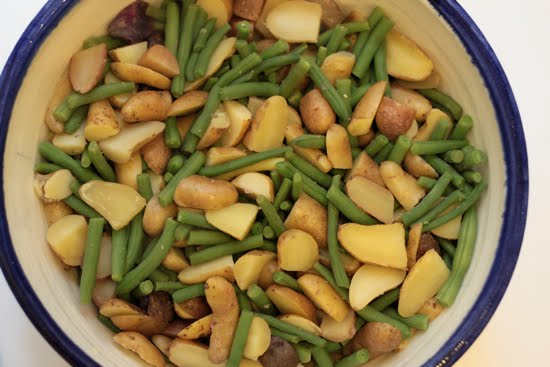 pesto potato and green bean salad
