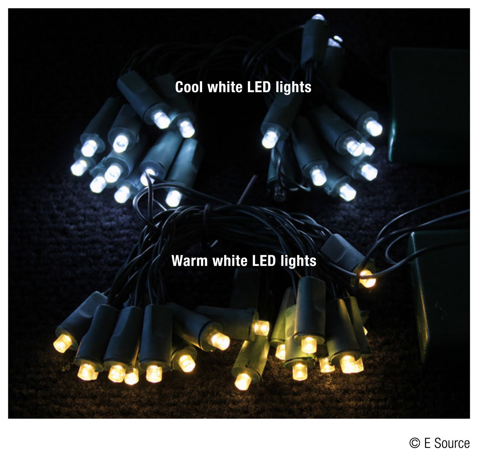 Cool white vs warm white led lights - Cool White Leds Are Brighter And Have A Slight Blue Tint Warm White Leds Are The Closest In Color To White Incandescent Holiday Lights