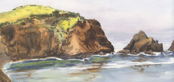 east bay landscape painters rodeo beach rocks marin