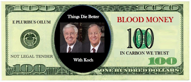 Koch Brothers on $100 dollar bill