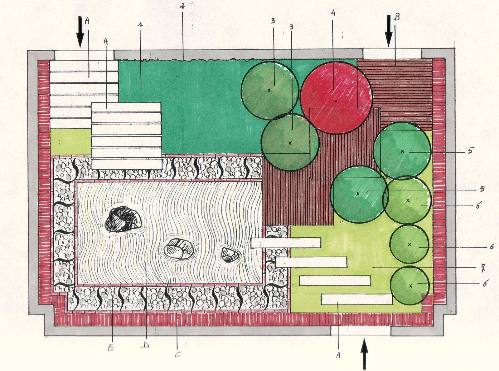 Progetto Di Giardino Zen : Verdiprogetti architettura del paesaggio progetto di