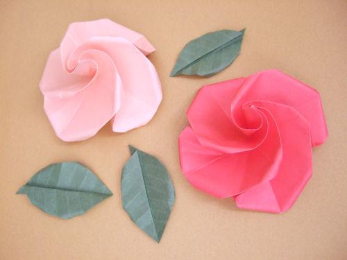 origami by deuzaaa rosa facil. Black Bedroom Furniture Sets. Home Design Ideas