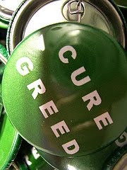 button that says Cure Greed