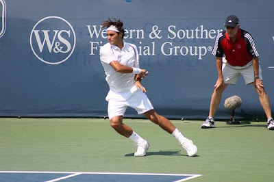Roger in action