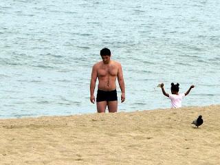 hunk on the beach