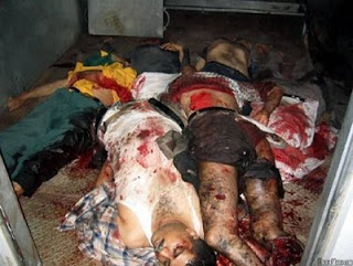 photo of shot up Iraqi civilians