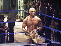 Shelton Benjamin shows off title belt